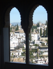 View through window